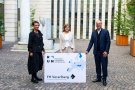 Rektorin Tanja Eiselen, Landesstatthalterin Barbara Schöbi-Fink, Geschäftsführer Stefan Fitz-Rankl