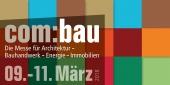 Einladung zur com:bau-Messe vom 9. - 11. März 2018